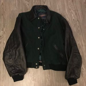 Other - Princeton 100% leather Suede Varsity Jacket XL